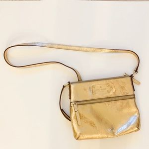 Gold Kate Spade Crossbody Bag